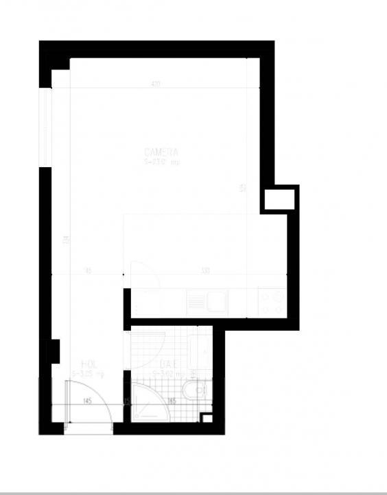 Apartament 1 camere Open Space zona Garii Liberty Park