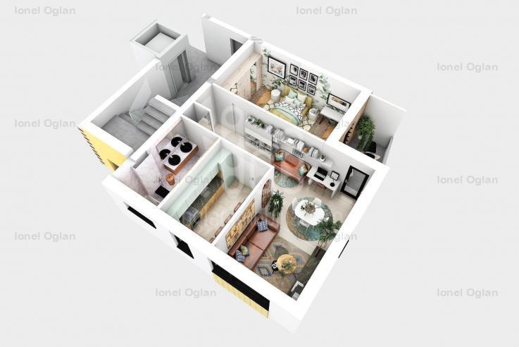 Apartament 2 camere, decomandat, Turnisor