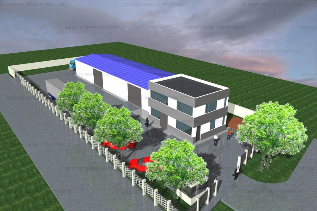 Spatiu industrial (hala si birouri) Crevedia - Darza
