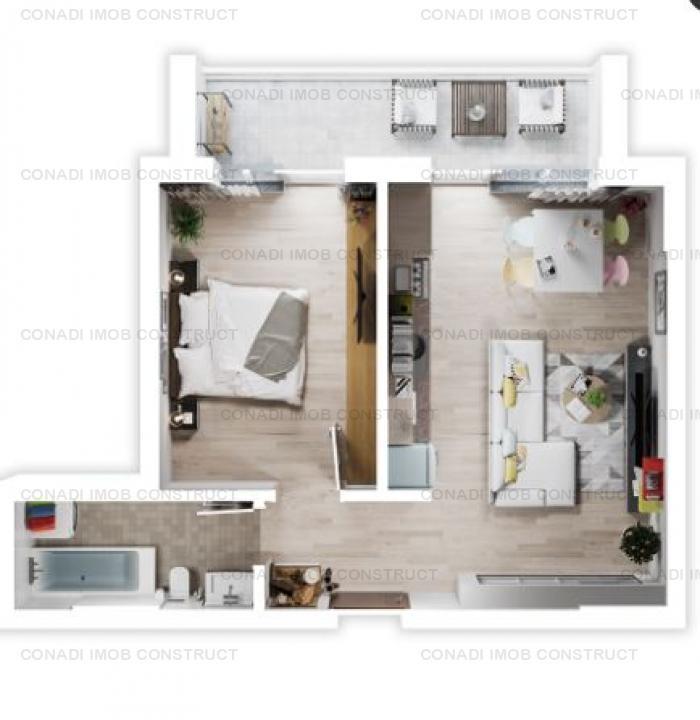 Apartament 2 camere Otopeni - complex rezidential