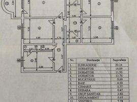 Apartament cu 4 camere, loc de parcare, hol H, zona 13 Septembrie