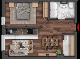 Apartament cu 2 Camere Bloc Nou Copou, COMISION 0