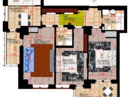 Apartament cu 3 camere, Zona Copou, Comision 0