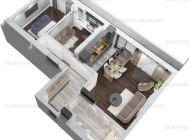 Apartament cu 3  Camere Bloc Nou Copou, COMISION 0