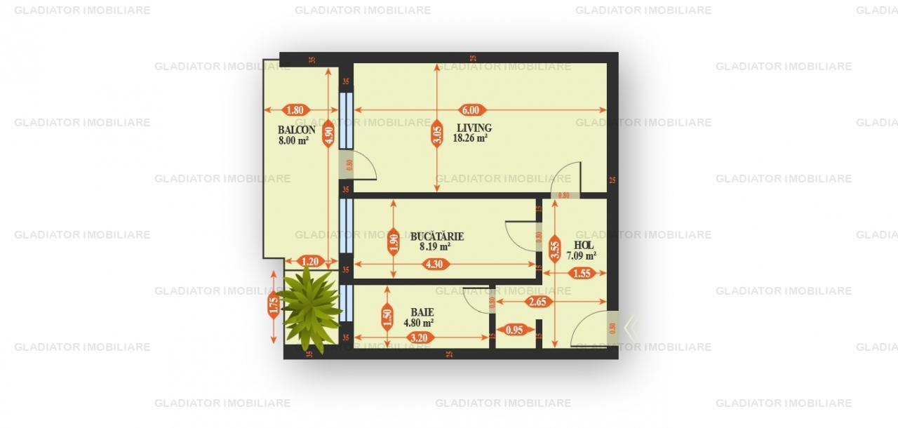 Apartament cu 1 sau 2 Camere Bloc Nou Tatarasi, COMISION 0