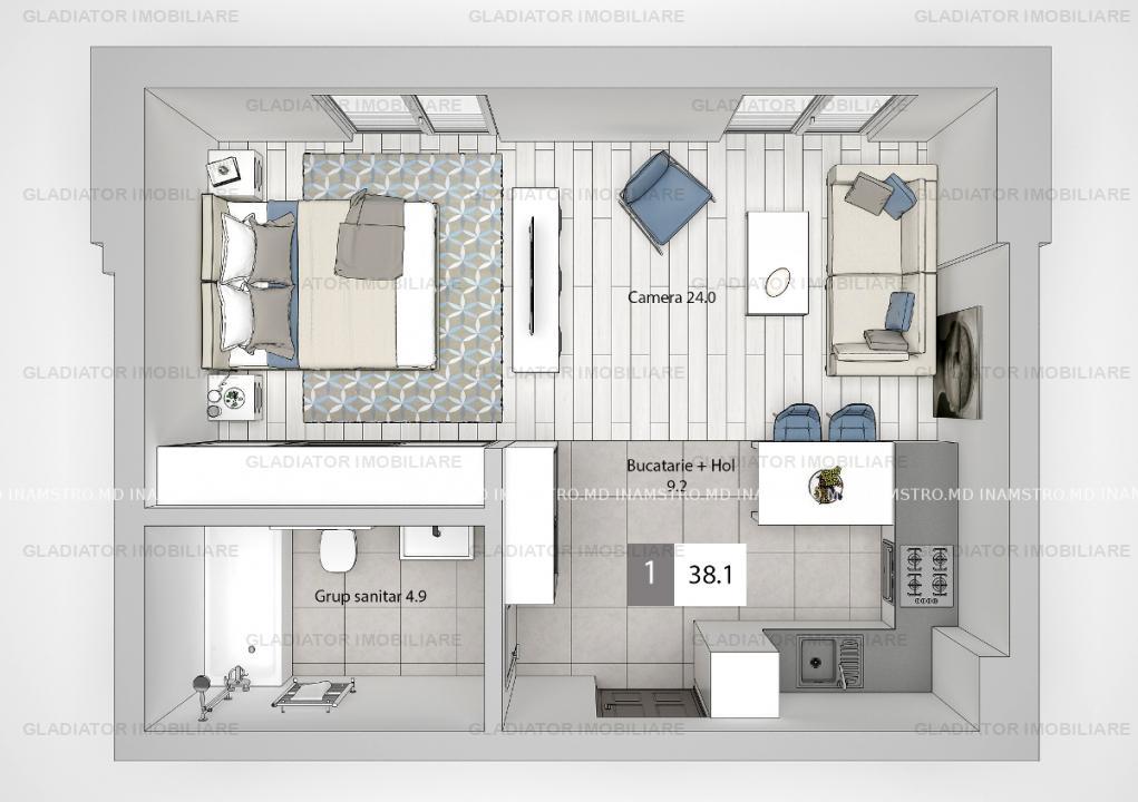 Apartament cu o camera, Bloc Nou Moara de Vant, COMISION 0