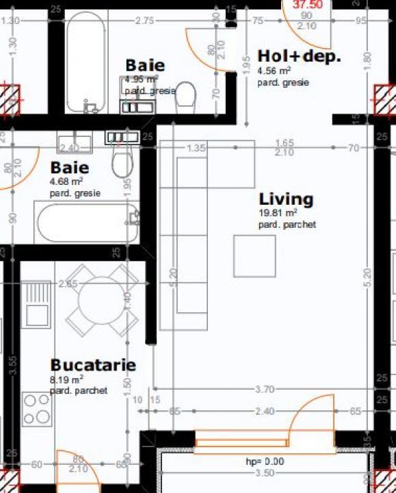 Apartament cu O Camera, Bloc Nou Copou, COMISION 0