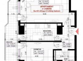 Apartament 2 camere DECOMANDAT, Zona COPOU, suprafata totala 62,9 mp