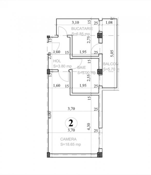 Apartament 1 camera Capat Cug - Horpa,  0% comision