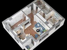 !!PRET PROMOTIONAL!!!    Apartament cu 3  Camere Bloc Nou TATARASI, COMISION 0