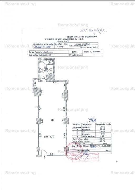 Proprietar vand spatiu comercial 107 mp, Calea Dorobantilor 172