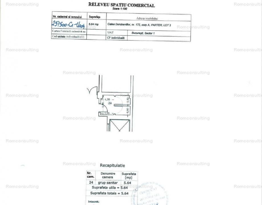 Proprietar vand spatii comerciale 323.38 mp , Calea Dorobantilor 172