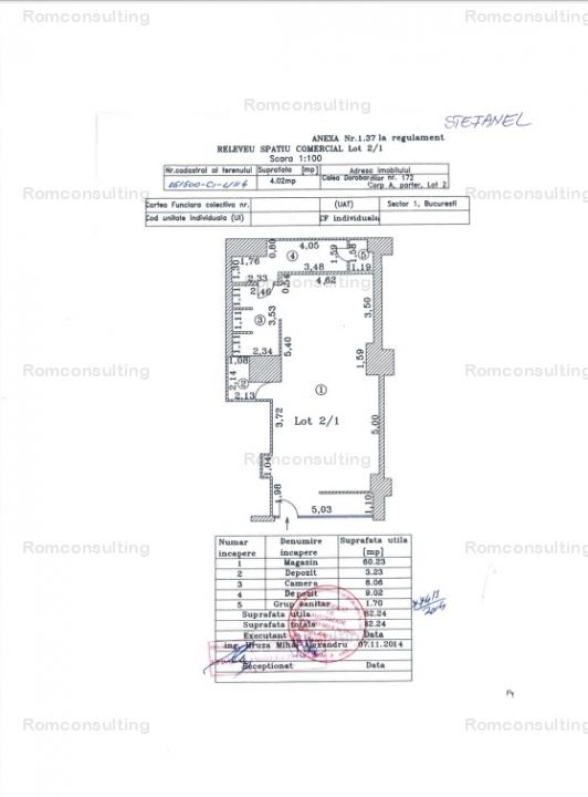 Proprietar vand spatiu comercial 82 mp, Calea Dorobantilor 172