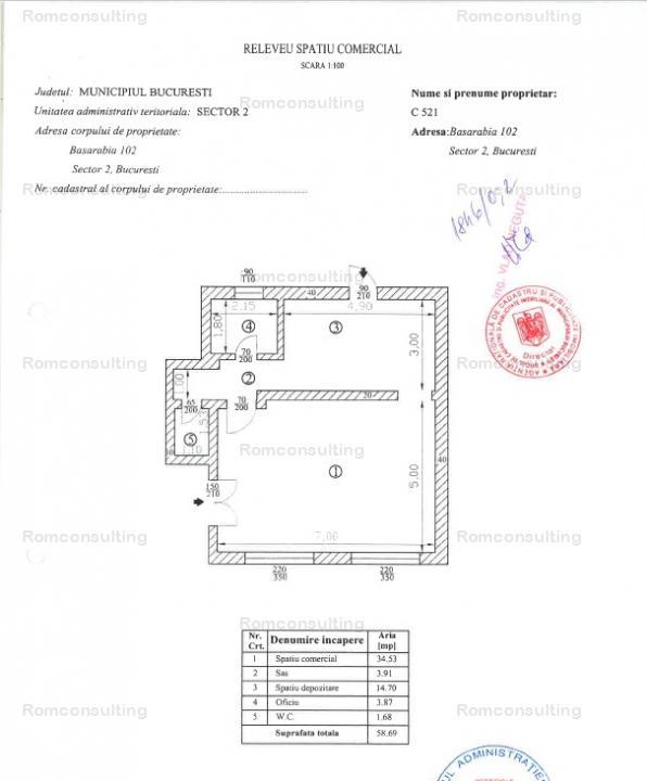 Vanzare spatiu comercial 59 mp – Bd. Basarabia Nr. 102