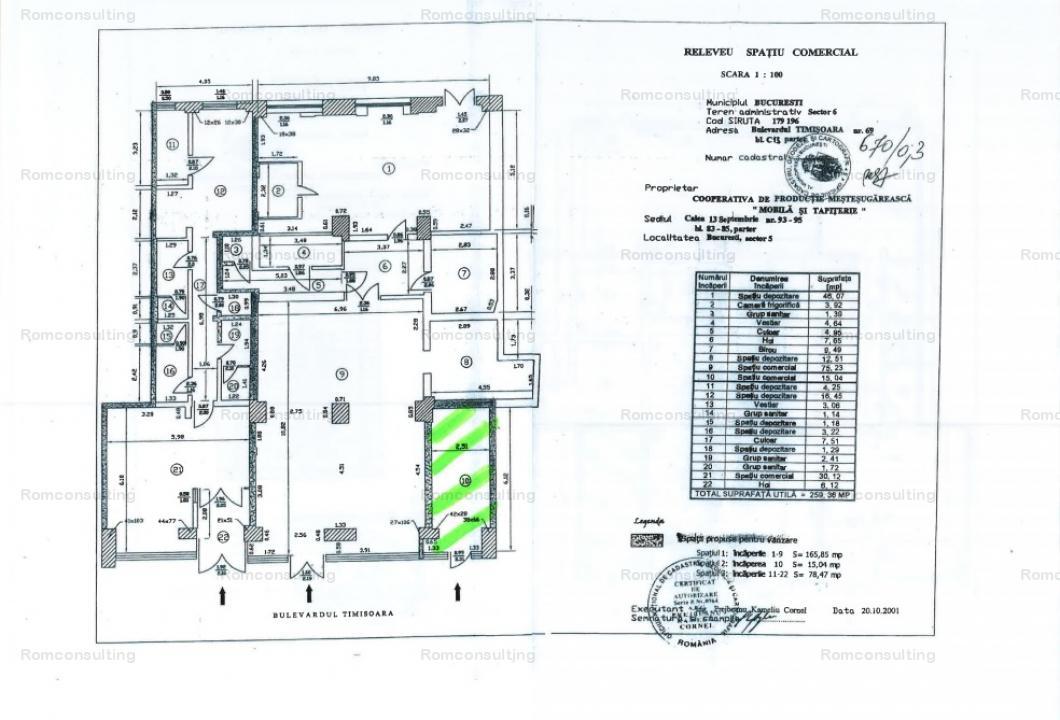 Proprietar vand spatiu comercial 15 mp, Bd. Timisoara 69