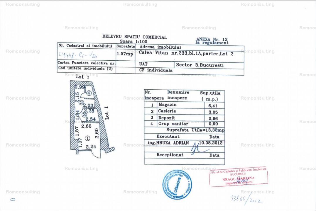 Proprietar vand spatiu comercial 13 mp, Calea Vitan 233