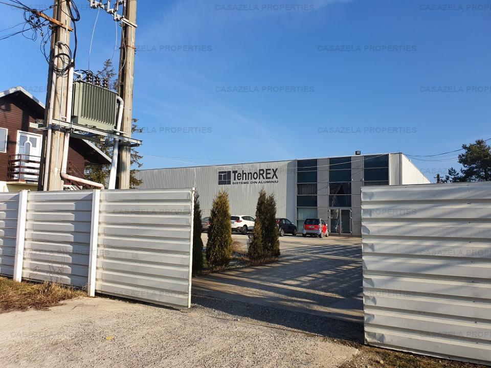 Hala de productie sisteme de fatada din aluminiu si teren, echipamente tehnologice, utilaje si Hala