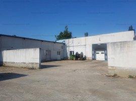 Spatiu cu destinatie industriala: atelier, sopron si teren de 1.500 mp