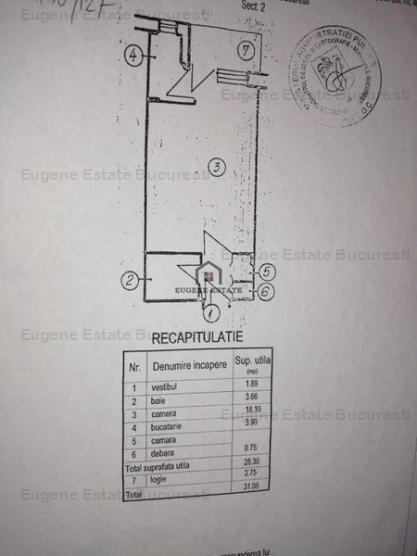 Garsoniera 28.3 mp zona Pantelimon/Cimitir Armenesc