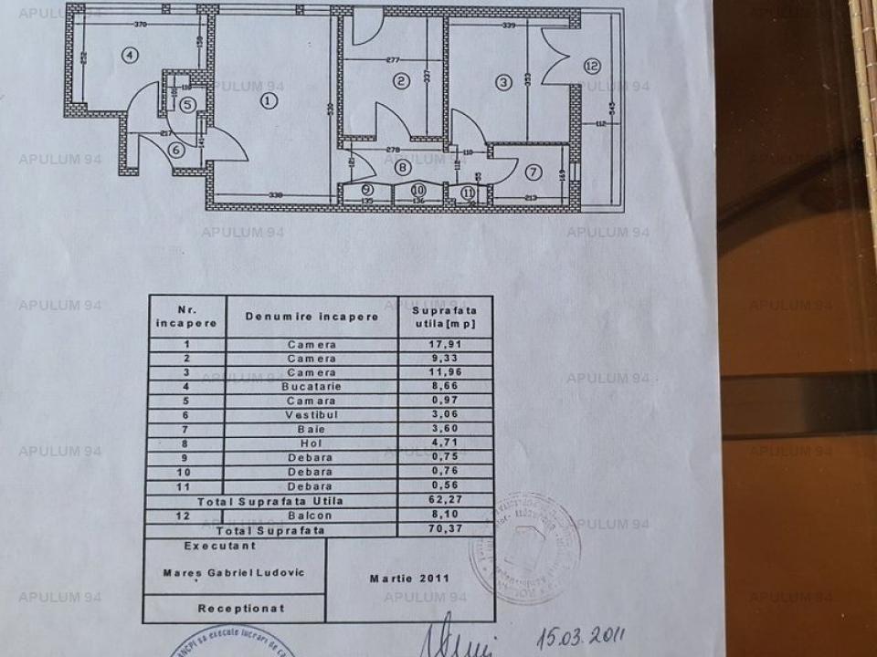 Apartament 3 camere Titan, apropiere Piata Minis